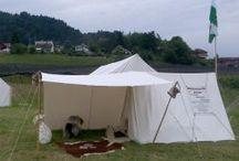 Viking tents and camp