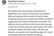 Soundview Reviews / See what past clients have to say about Soundview Caterers