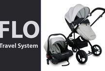 Colourful FLO 3 in 1 Travel System Prams / FLO is the baby in the Uberchild Travel System family. When designing the FLO we focused on providing parents with a super lightweight yet sturdy, safe and stylish Travel System with a price advantage. The FLO Travel System is suitable from Birth to approximately Three years of age.  Buy Now on www.infababy.com
