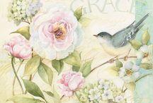 flowers & bird