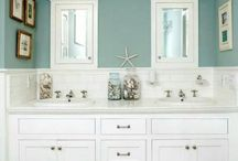 Bathroom Colours / You can design a bathroom any way you like. These are just some of the interesting colour palates that we have seen.