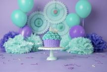 mint and purple cake smash inspiration