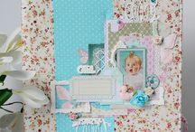 Скрапбукинг, папка для свидетельства о рождении