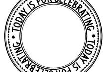 circle digital stamp