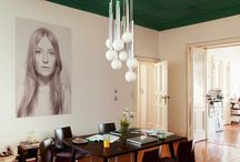 colored ceilings and ombre walls