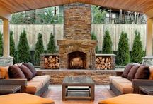 Outdoor Installs / Mosaics, field tile, pavers & coping used in outdoor applications