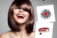 Czerwone usta / Czerwień na ustach - czerwień w biżuterii ;)