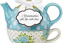 Turquoise Teapot & Teacup