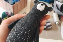 Animals handmade / Animals are handmade. Woolen, knitted, made of polymer clay. The best ideas for you