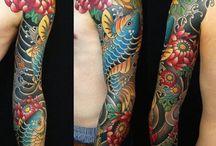 Tattoo japanese koo collor