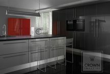 High Gloss Kitchens / Choose a high gloss kitchen for a sleek, modern finish.