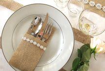 Jute/burlap bryllup wedding / All the nice ways to use burlap/jute for your wedding! Jute til bryllup!
