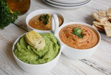 Skinny Dips / Find a near-endless array of healthy protein- and fiber-rich dips made using dry peas, beans, lentils and chickpeas!