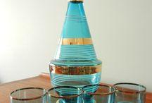 wine glasses & carafe-bardak-karaf