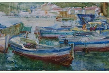 Svetlana Kalinicheva / I have just fallen in love with Svetlana's boats and landscapes!  Please promote this wonderful young artist!