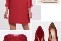 Red party look