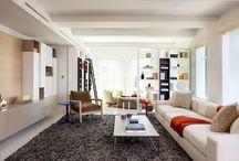 Langwerpige woonkamer