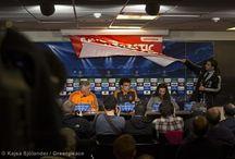 Tarjeta Roja a Gazprom / Greenpeace se robó la atención durante la conferencia de prensa de la Champions League en Copenhague, para exponer la grave amenaza que significa para el Ártico, el principal patrocinador del torneo. El gigante petrolero Ruso Grazprom.