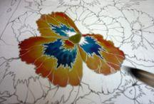 Рисунки на ткани (батик)