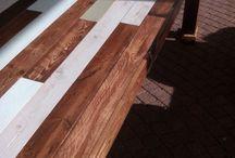 Tafels van sloophout scrapwood reclaimed hout