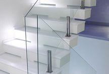 scări sticla