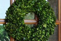 Preserved Boxwood Wreaths / Our Preserved Boxwood designs are a natural evergreen, treated to preserve the beauty of the plant which is best preserved by lightly misting once a month and should not be placed in direct sunlight…this will aid in keeping its bold color for a lifetime.