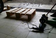 progetto seduta pallet da esterno / Recycle pallet