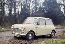 A 1959 Morris Mini-Minor, taking a deserving break from the open road. #ClassicMini #Classic #Mini - photo from miniusa