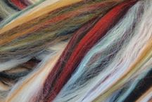 Ashland Bay Multi-colored Merino Wool Silk Blend / This 70/30 Merino Wool/Tussah Silk dyed fiber is the perfect ratio of wool to silk, perfect for spinning and feting! With a micron count of 21.5 and a staple length of 70mm/2.75 inches.