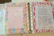 homemade recipe binders/books