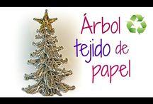 arbol navidad papel