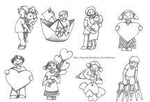 Malvorlagen - coloring pages / kostenlose Druckvorlagen - Freebies