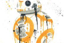 R2-D2,BB-8 SPLATTER