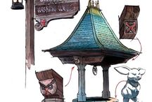 Disneyland/Disney world sketches