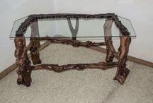 Rustic Handmade Wooden TV Stand