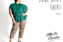 2015 - Juno Boxy Shirt / Shirt which specially designed for sophisticated curvy women originally made by Indonesian Designer & Local Brand: Ella Es Bonita.