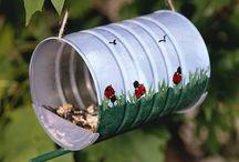 vogel  voeder/huisjes