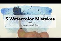 Techniki malowania akwarelami