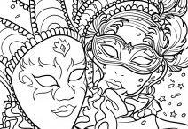 karneval omalovanky