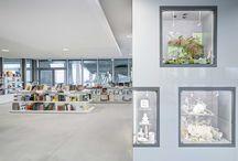 LYON CONFLUENCES / aménagement de la librairie boutique du musée des confluences pour la réunion des musées nationaux et grand palais