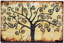 Tree of Life / Modern backsplashes tile murals add more harmony to the entire house design and well selected materials make homes more attractive and increase their values.