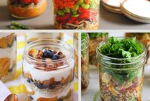 Mason jar lunch