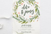 Rustic Green Save the Dates