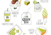 sketchbook matcha foods