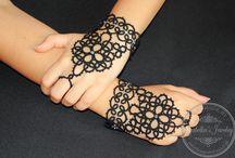 Frivolité, Tatting slave bracelet