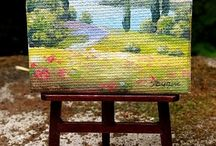 Dollhouse paintings by Dewdropminis / Dollhouse paintings by Dewdropminis