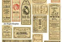 Apothecary Labels / Pretty labels and prints