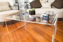 Tavolino 60x40 h:40 a ponte in plexiglass / Tavolino ponte per il soggiorno in plexiglass 60x40 h:40 #design #plexiglass #tavolino #arredo #moderno #roma   / by Designtrasparente shop online