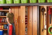 Garage, storage, Shelves, Sliding