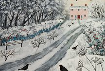 Winter folkart